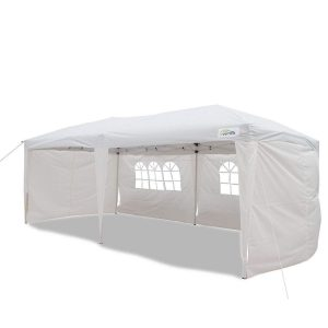 Carpa plegable con paredes laterales