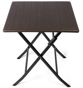Mesa auxiliar plegable en óptica de madera