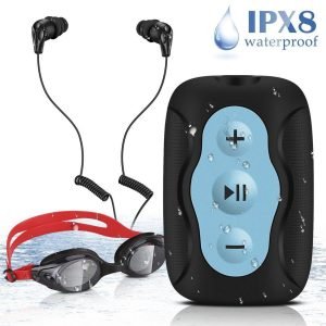 Mp3 acuático con gafas de natación