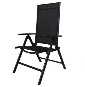 Silla de camping negra de Chicreat