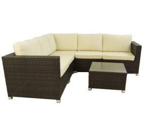 Sofá rinconero 5 plazas con mesa auxiliar