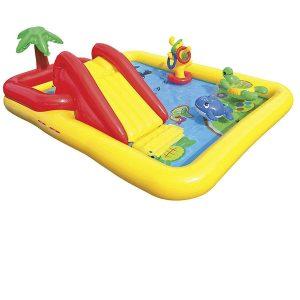Tobogán hinchable piscina acolchado